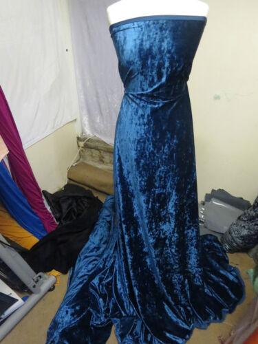 1M TEAL BLUE 4 WAYSTRECH DRESS   VELVET FABRIC 58INCES WIDE