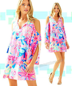 e0d718c9d22c Image is loading Lilly-Pulitzer-Benicia-Open-Cold-Shoulder-Multi-Playa-