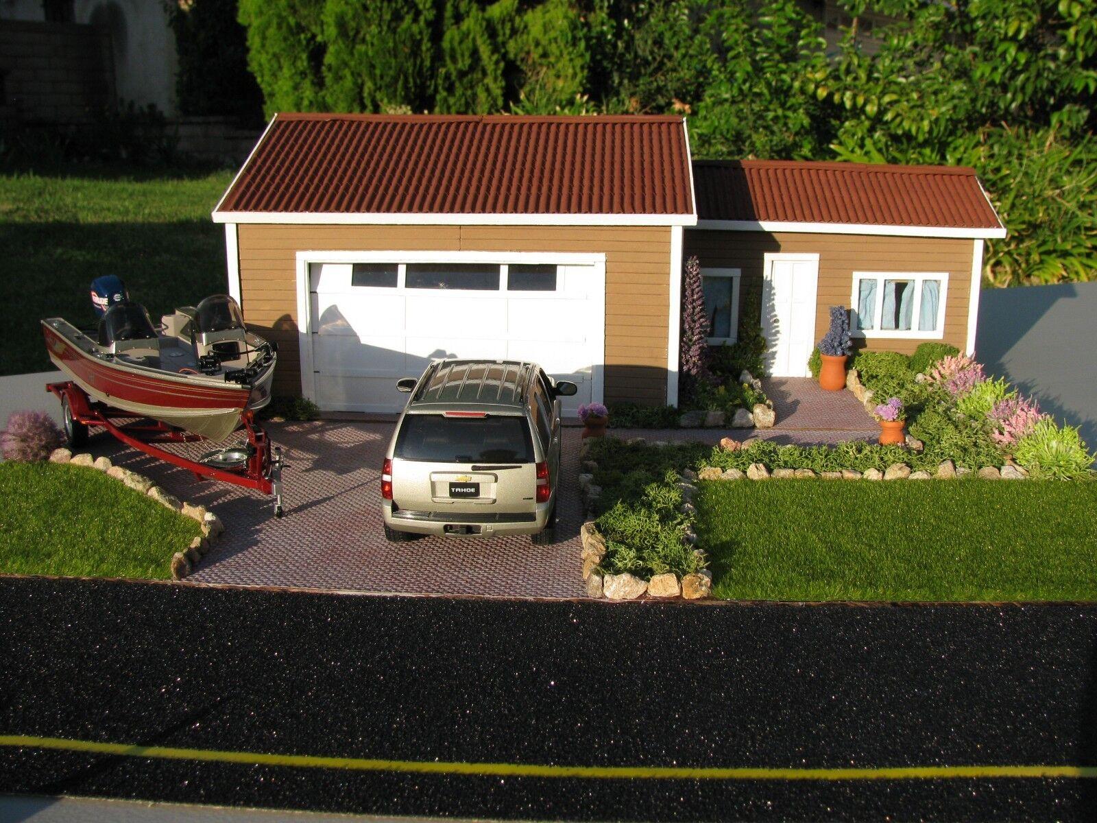 1 1 1 24-1 25 SCALE SCRATCHBUILT HOUSE DIORAMA BUILT BY ADAM GORMAN   936b7e