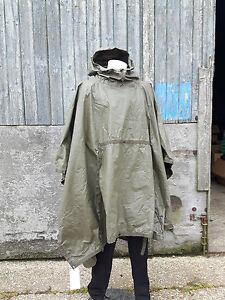 Genuine-Surplus-German-Poncho-Waterproof-Heavy-Duty-Rubberised-Poncho-Army