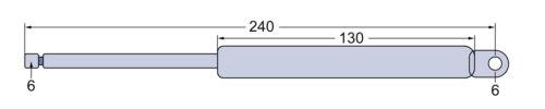 2030-3130 1640-3650 Gasdruckfeder Dachluke /& Heckscheibe für John Deere SEK-Kab