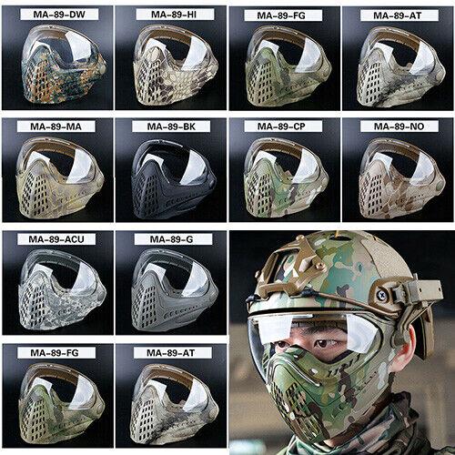 Tactical PILOTA Full Face Mask Goggles maschera per airsoft fast helmet