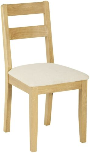 Nordic Pair Of Low Back Chair - Oak Style