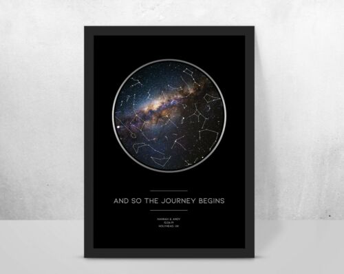 special gift birthday//wedding//anniversary Personalised starmap galaxy print