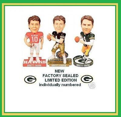 brand new b21f7 c1117 Brett Favre Bobblehead 3 Bobble Packers jersey High school southern miss  USM NEW | eBay