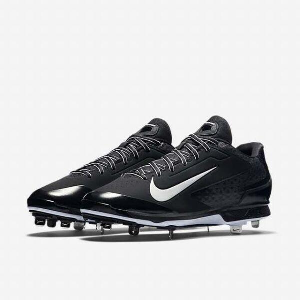 quality design 68eaa 7c17d Nike Huarache Pro Low Metal Black White Baseball Cleats 599233-001