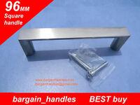 Flat Pack Kitchen Cupboards Door Handles Square Modern Style 30x96mm Soild Metal