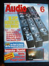 AUDIO 6/91.   BLAUPUNKT BQA 208,MAC AUDIO MP 120,MACROM 42.05,PIONEER GM 2000 A