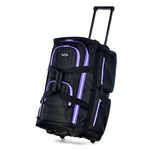 Olympia Luggage Sports Plus 22 Inch 8 Pocket Rolling Duffel Bag ... 90a151452b707
