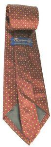 Firenze-Men-039-s-Tie-Burgundy-Tie-100-Silk-Tie-Italian-Made-Tie