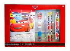 Disney PIXAR CARS Stationery Set - Notebook Pencil Ruler Sharpener Eraser Marker