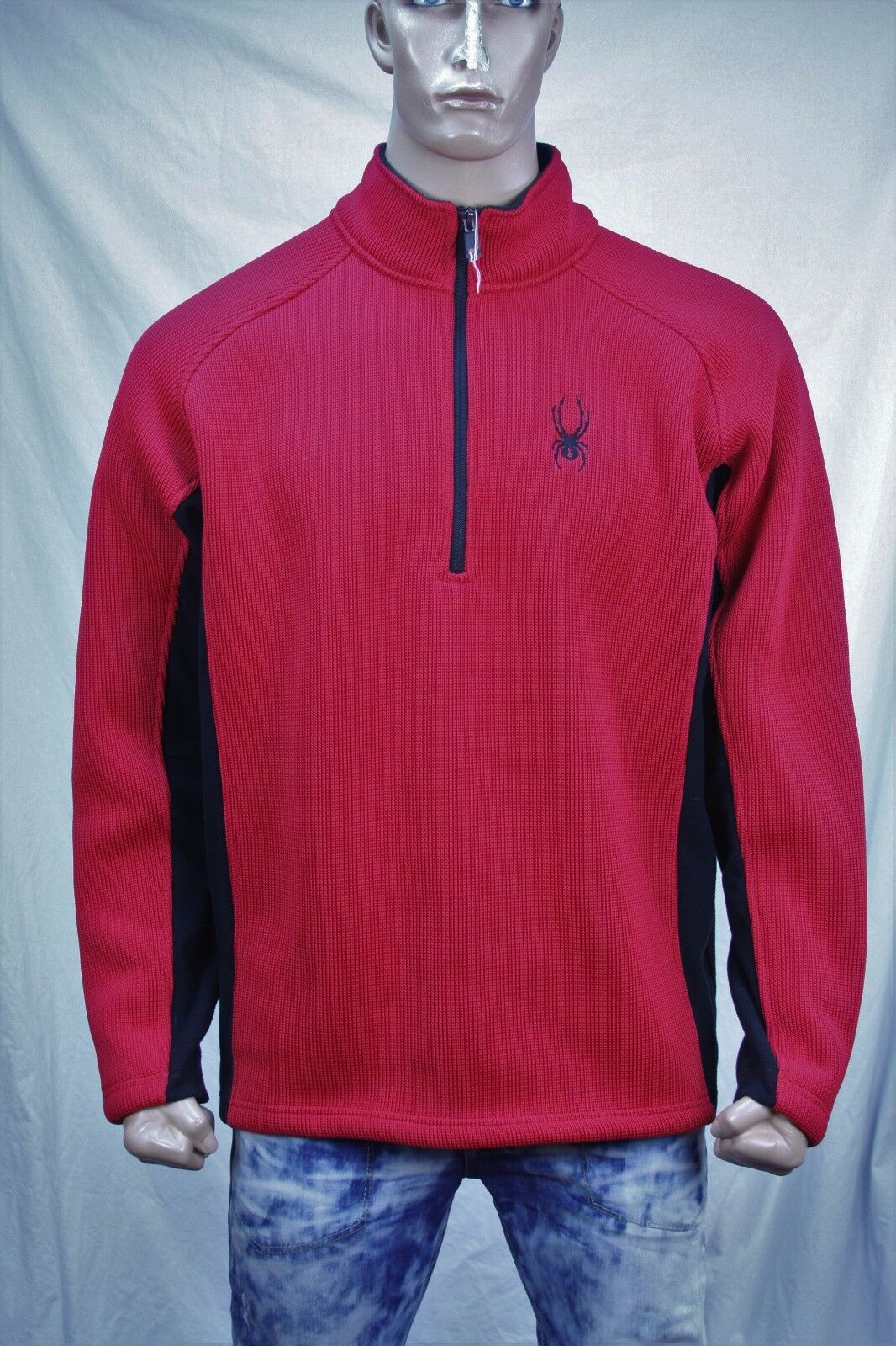 Authentic Spyder  Men's half zip polyester sweater US XL