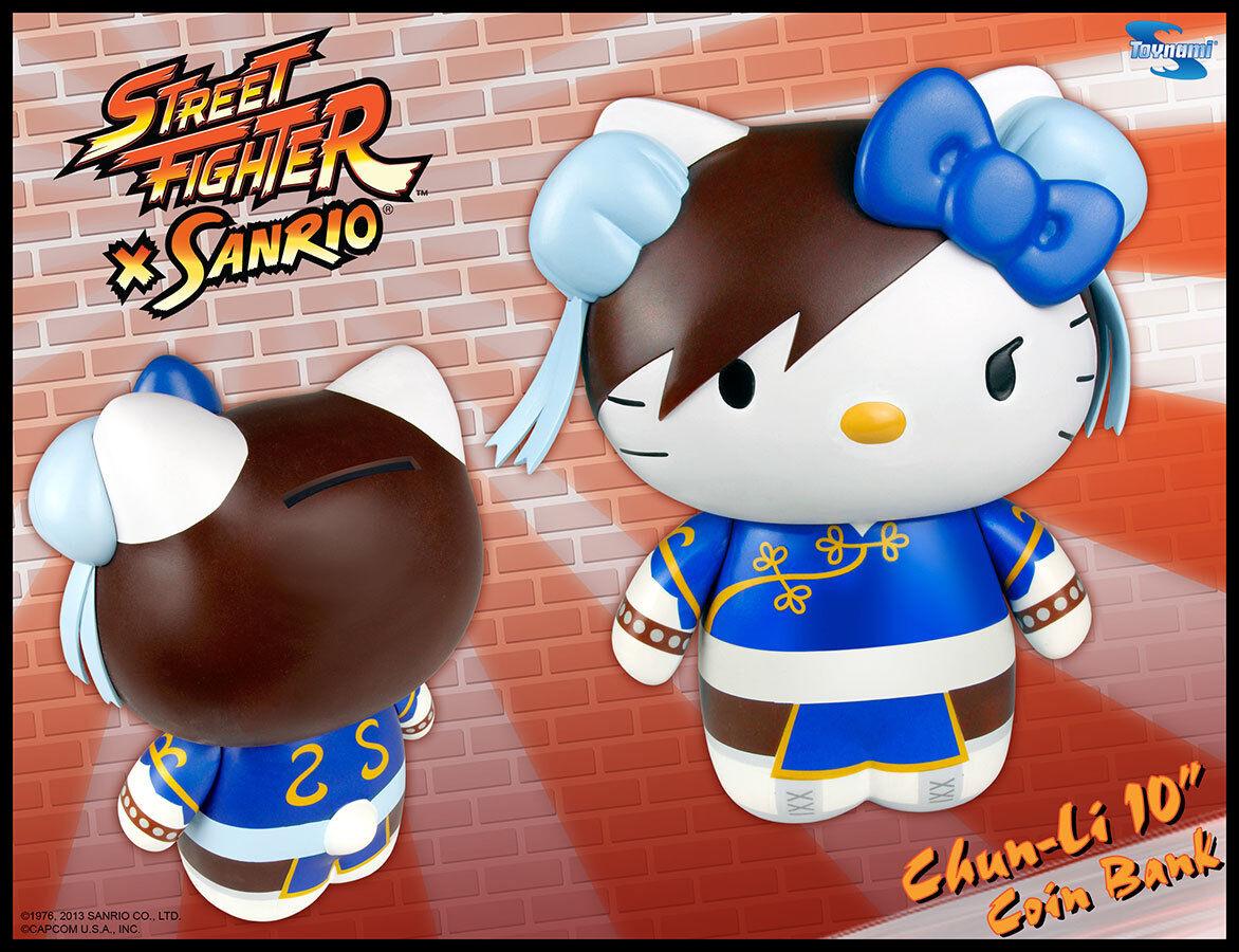 SANRIO STREET FIGHTER HELLO KITTY KITTY KITTY CHUN LI Vinyl COIN BANK Figure NEW b9c404
