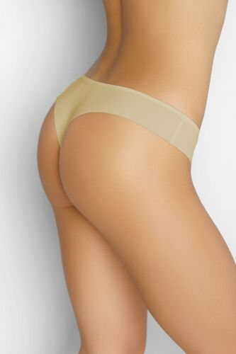 GAIA VESTIVA ultraleichter string beige Laser Cut traitement Invisible Mince S
