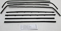1966-1967 Dodge Charger Window Beltline Weatherstrip Kit (8 Pieces)