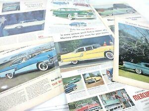 Mercury Vintage 1950s Car Ads Lot of 6 Montclair Park Lane Marauder Automobile