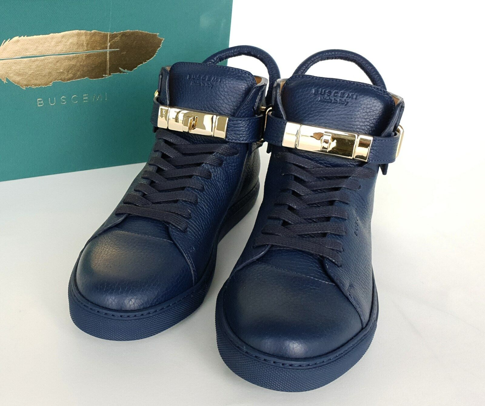 BUSCEMI 100 mm Oceano Bleu High-top baskets Made In  Taille US 10 EUR 43