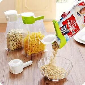 Home-Seal-amp-Pour-Food-Storage-Bag-Sealer-Clip-Freezer-Fridge-Bag-Sealing-Clip-DM