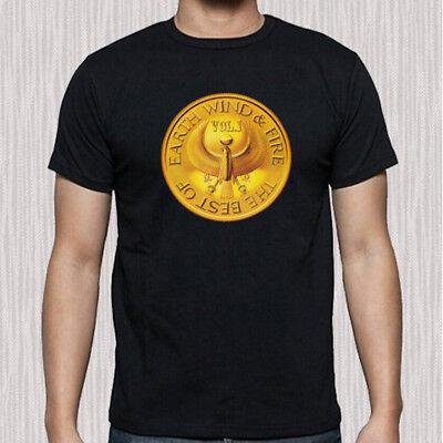 New Earth Wind Fire Tour Logo Men/'s Black T-Shirt Size S to 3XL
