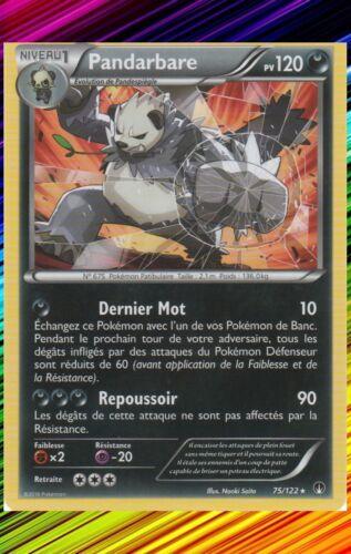 Pandarbare-xy9 breaking turbo French designer card pokemon 75//122