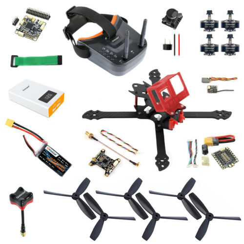QWinOut T260 DIY RC Drone Kit with OmniF4 Pro V2 FC FPV Camera VTX FPV Goggles