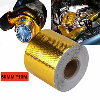 Self Adhesive Reflective Silver High Temperature Heat Shield Wrap Tape Roll UK