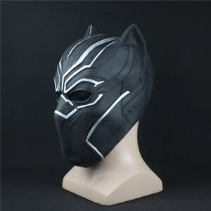 Black-Panther-Mask-Marvel-Superhero-Cosplay-Latex-Party-Mask