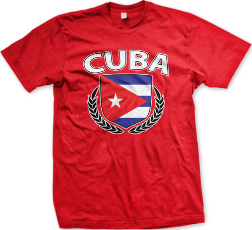 Cuba Shield Crest Coat Of Arms Cuban Country Born Heritage CUB CU Men/'s T-Shirt