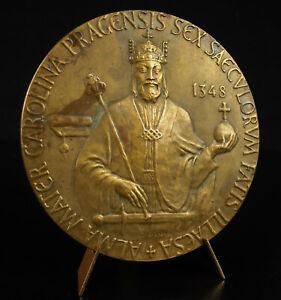 Medal-1948-University-Czech-Charles-IV-of-Prague-Republic-80-mm-Medal
