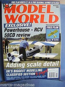 RCMW-RC-MODEL-WORLD-NOVEMBER-2002-LESS-N-EXTRA-PLAN-USAAF-MODEL-DISPLAY-TEAM