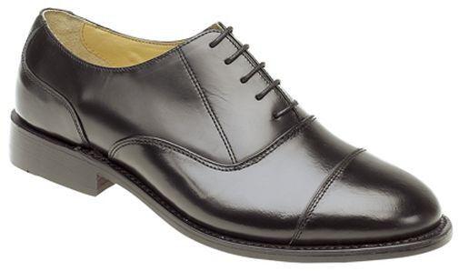 SIZE 7 8 9 10 11 12 13 14  & Herren BLACK LEATHER SOLE &  UPPER LACE UP DRESS Schuhe cbe7b5