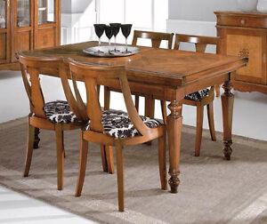 Tavolo classico allungabile intarsiato con serrandina ebay - Tavolo allungabile classico ...
