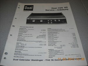 Dual-CDV60-Service-Manual