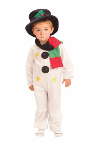 Child Snowman Costume Christmas Frosty Fancy Dress Jumpsuit Boys Outfit