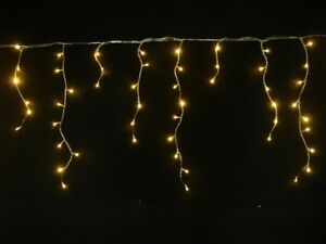 89m 360 Led Warm White Solar Icicle Christmas Lights With 8