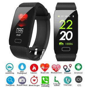 Smartwatch Armband Schrittzähler Pulsuhr Blutdruck Sportuhr Fitness Tracker DHL!