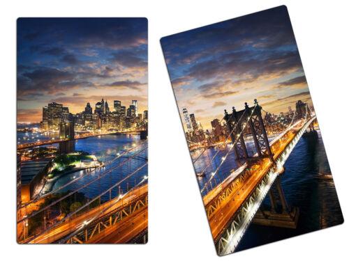 Herdabdeckplatte aus Glas Schneidebrett Spritzschutz HA95278604 New York Manhatt