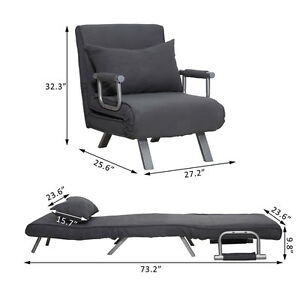 Image Is Loading Folding Sleeper Flip Chair Convertible Sofa Bed Lounge