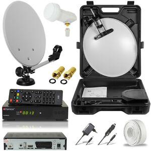 hdtv hd hdmi camping sat anlage digital receiver koffer. Black Bedroom Furniture Sets. Home Design Ideas
