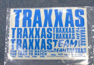 Vintage-Retro-traxxas-trx-SQUADRA-BLU-RC-Auto-Camion-Buggy-ADESIVI-DECAL-taglio