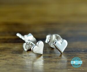 33aaddf56a23 Tiny Heart Love Stud Post Earrings - Sterling Silver .925 - Makes a ...