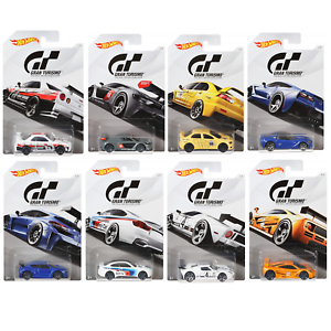 Hot-Wheels-FKF26-Gran-Turismo-Set-of-8-Diecast-Toy-Cars