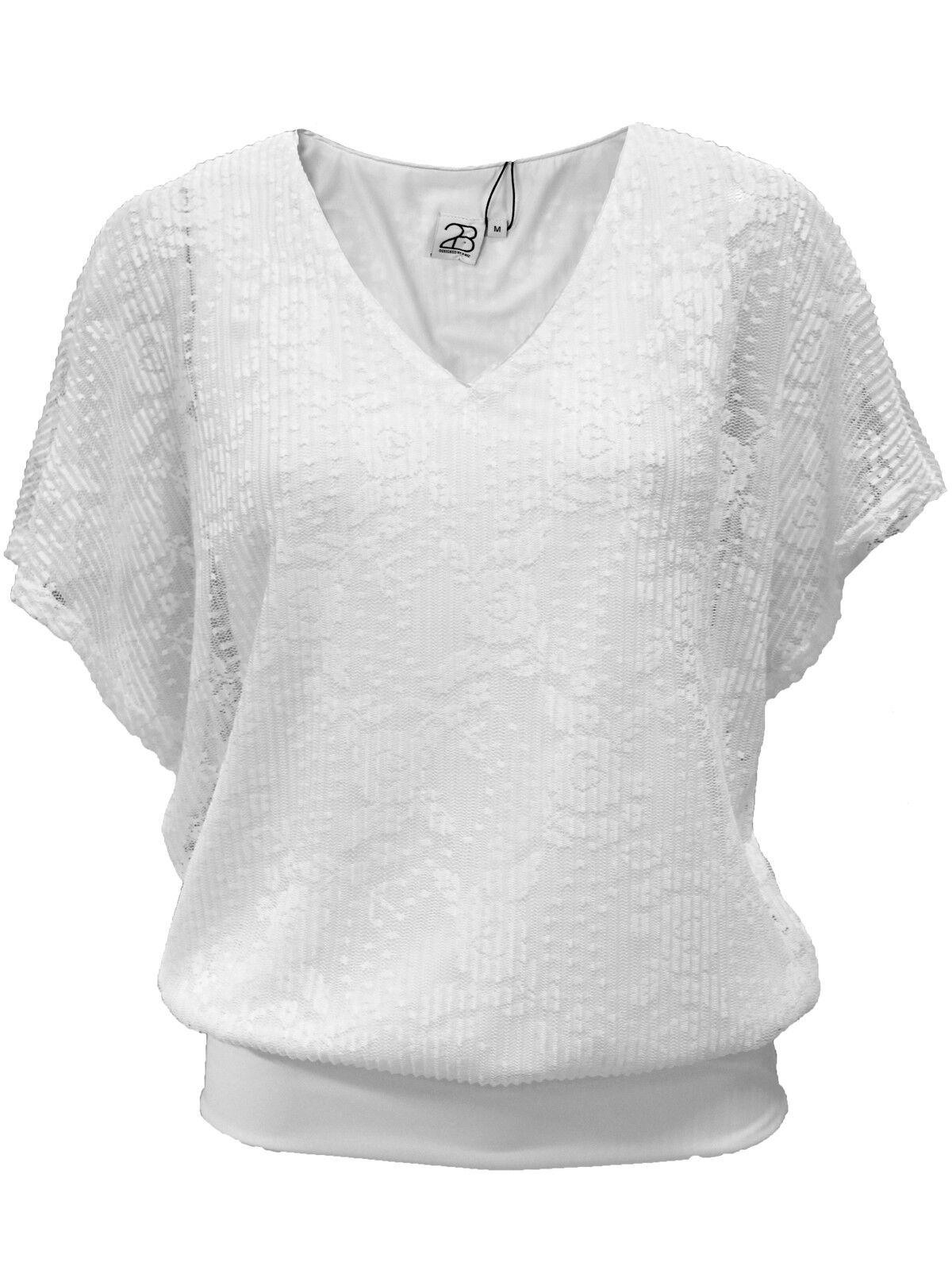 2-Biz Lindan Blouse Weiß Größe XL rrp  DH088 PP 04