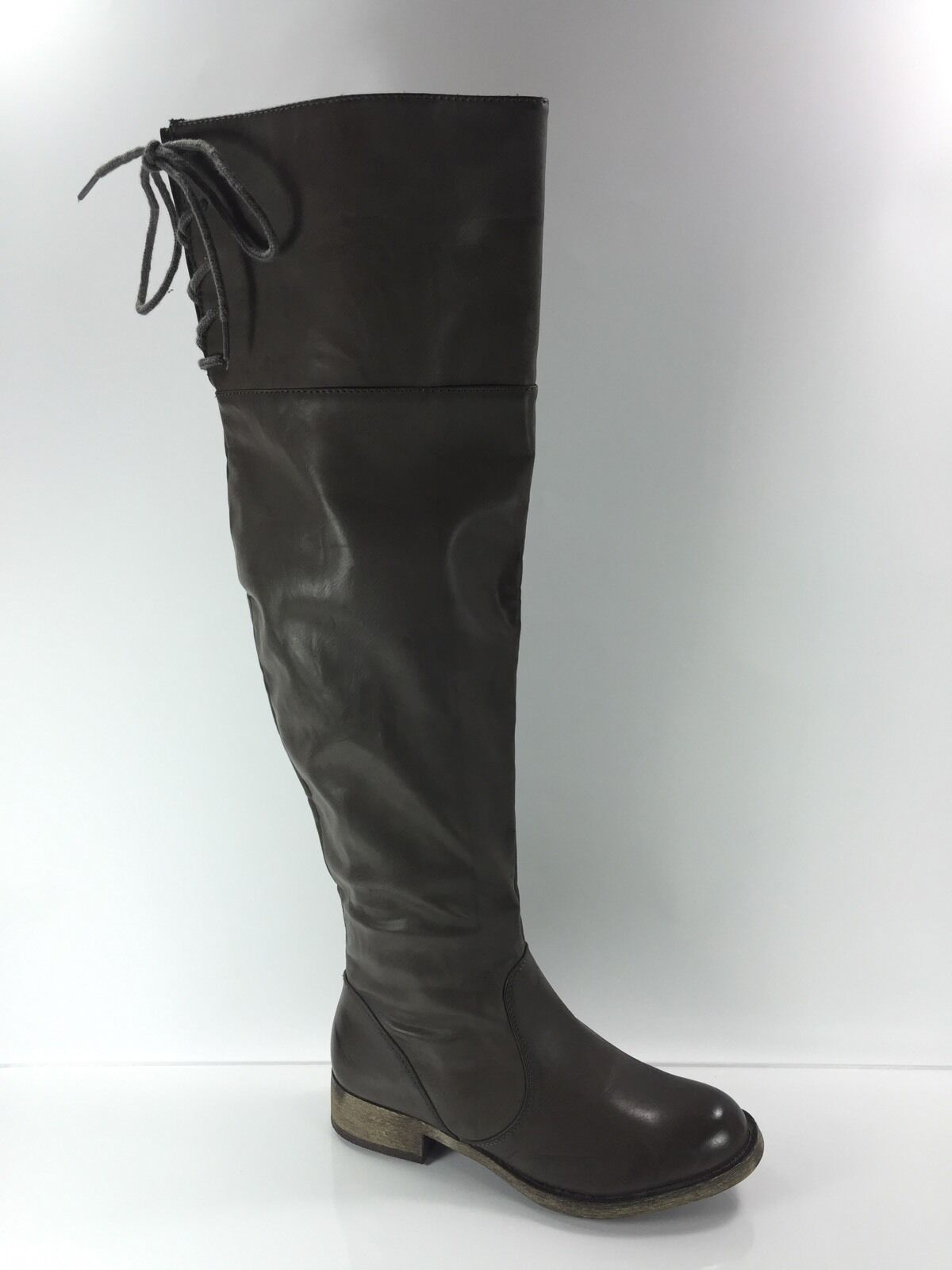 MIA Womens Pewter Taupe Over The Knee Boots 7 M