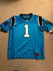 hot sale online e8f17 1ad55 Nike Carolina Panthers Cam Newton #1 Player Issue Elite Jersey Size 48 XL