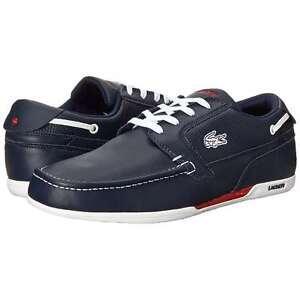 8ef39de07 Lacoste Men s Dreyfus SPM Leather Fashion Comforts Shoes Dark Blue ...