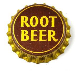 VINTAGE-Root-Beer-Soda-BIER-TAPA-DE-BOTELLA-EE-UU-botella-cap-SELLO-DE-CORCHO