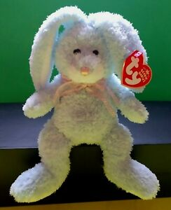 BEANIE BABIES HAPPILY THE BLUE EASTER BUNNY HALLMARK GOLD CROWN EXCLUSIVE MWMT