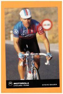 SPORT-VELO-Coureur-Cycliste-Steeve-BAUER-EQUIPE-Americaine-MOTOROLA-en-1991