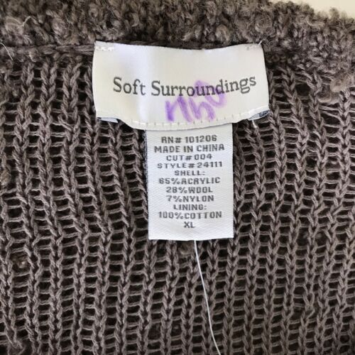 Sz Surround Taupe Oversized Nwt Chunky Women's Xl Sweater Soft Brown REAFdqq
